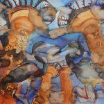 2018.08 - 2018.11 Daivos Šlajienės autorinė akvarelės darbų paroda